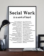 Social Work Is A Work Of Heart 11x17 Poster lifestyle-poster-2