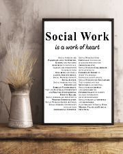 Social Work Is A Work Of Heart 11x17 Poster lifestyle-poster-3