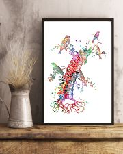 Chiropractor Colorful Spine With Birds 11x17 Poster lifestyle-poster-3