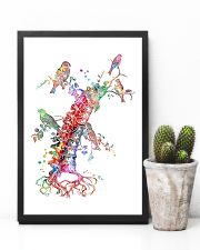 Chiropractor Colorful Spine With Birds 11x17 Poster lifestyle-poster-8