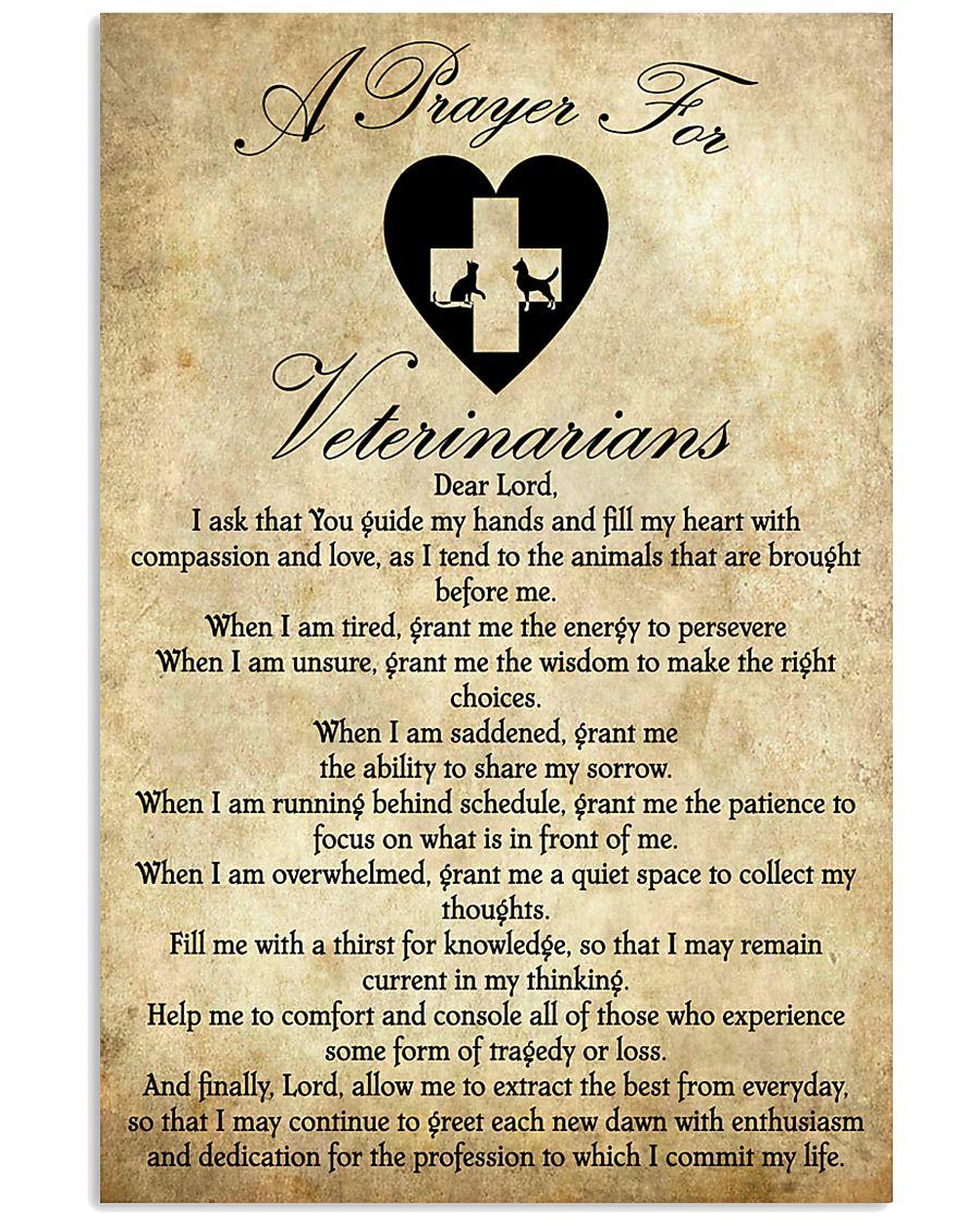Veterinarian Prayer  11x17 Poster