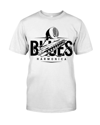 Black White Blues Harmonica