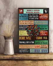 Social Worker Being a social worker means 11x17 Poster lifestyle-poster-3
