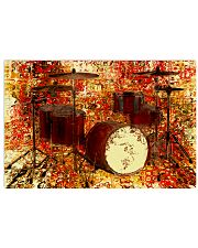 Drummer Red Drum Set 17x11 Poster front