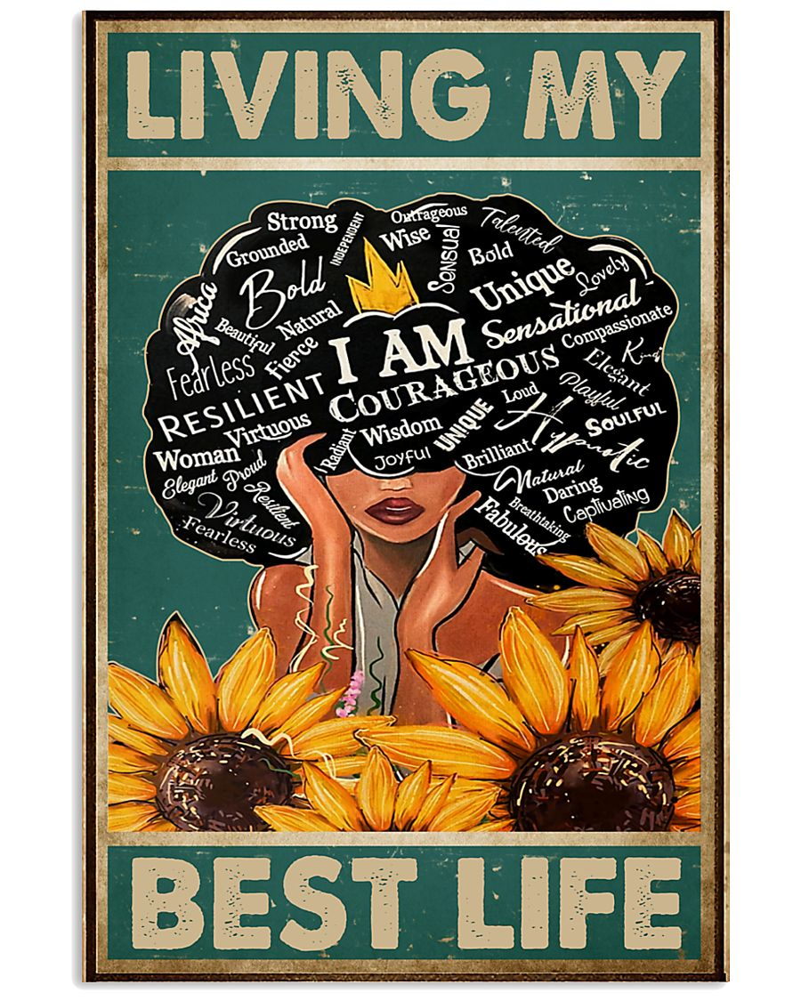 Social Worker Living My Best Life 11x17 Poster
