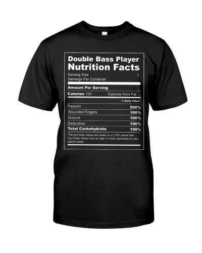 Contrabass - Double bass player nutrition facts