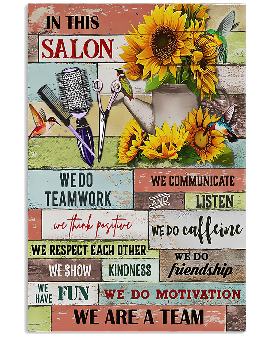 We Are A Team Hairdresser 11x17 Poster