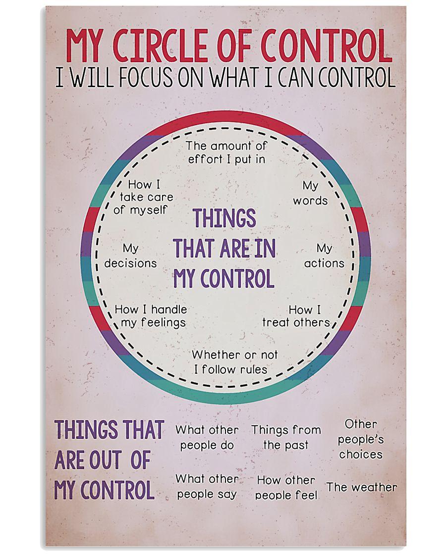 Circle Of Control Teacher 11x17 Poster