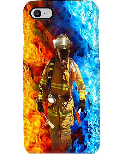 Firefighter Ice and Fire Phone case