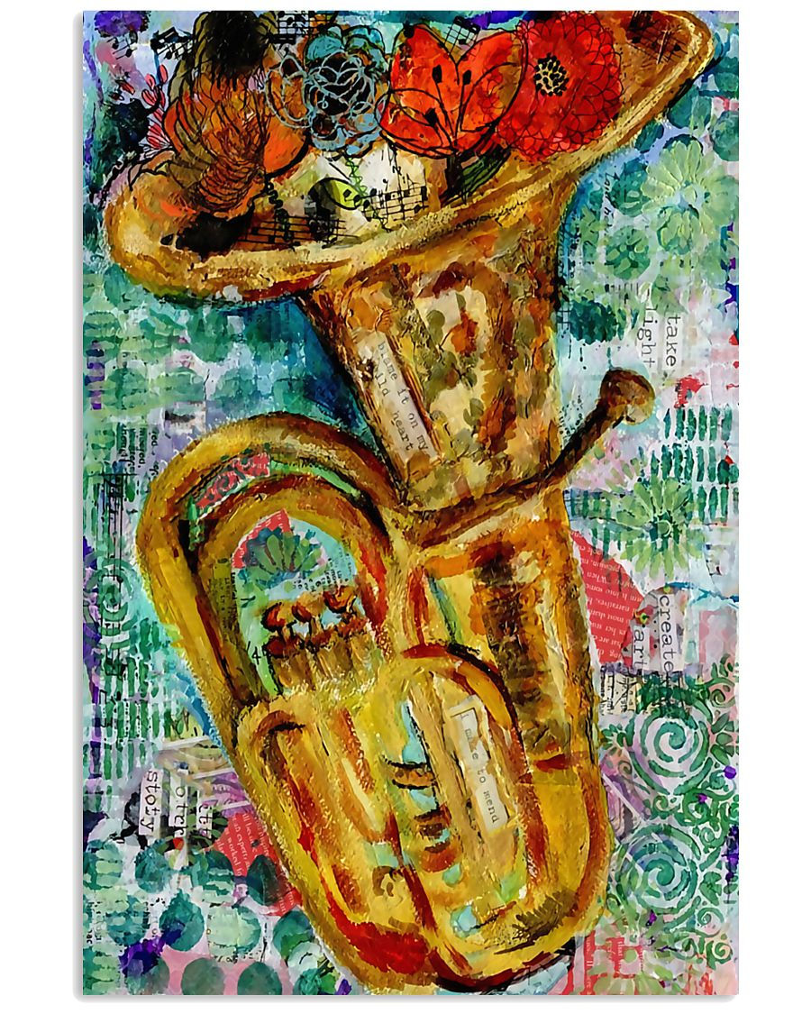 Tubist Tuba Water Colors  11x17 Poster