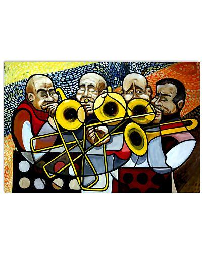 Trombonist Trombone Band Art