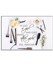 Hairstylist loves making other girls feel awesome  17x11 Poster front