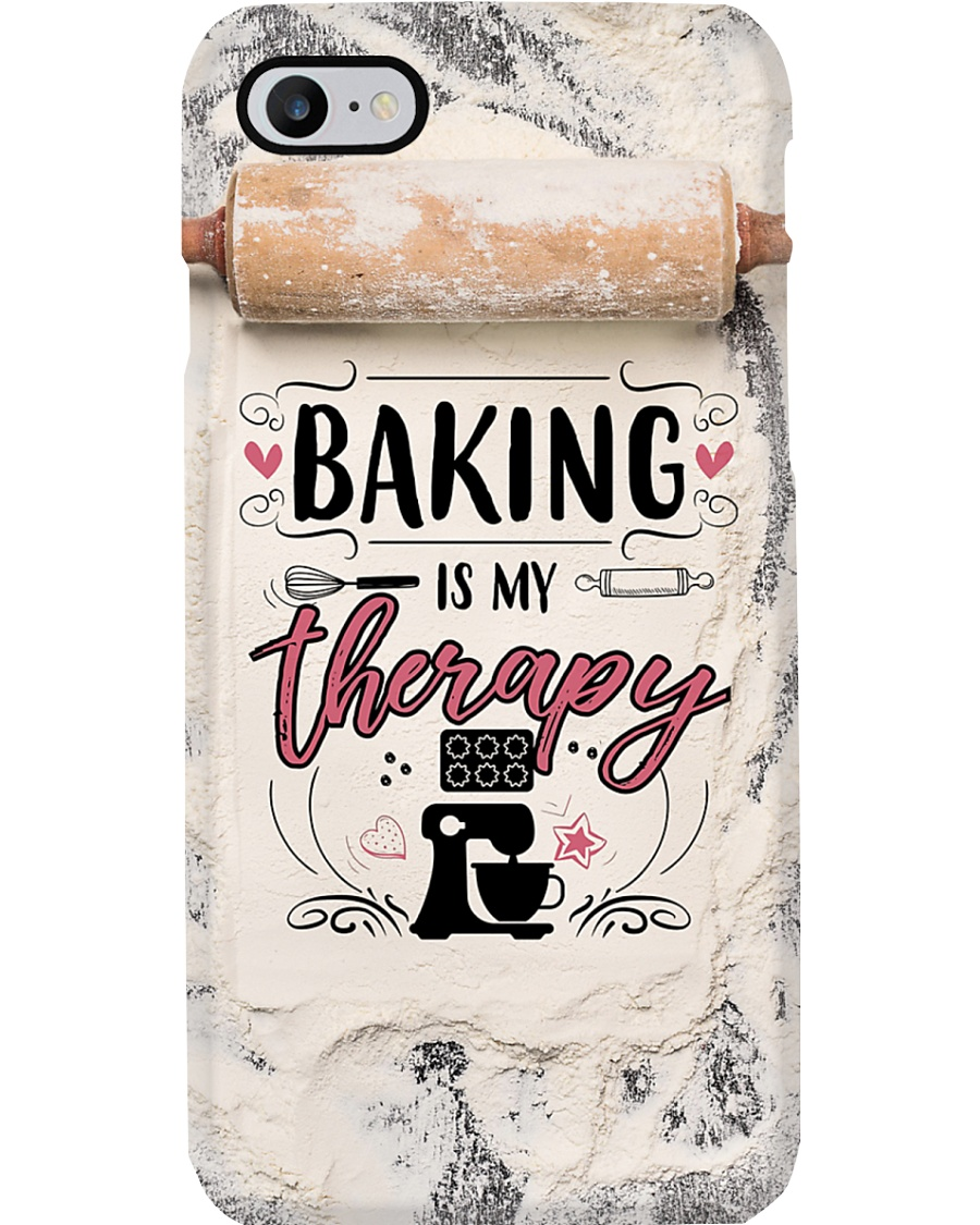 Baker Baking Is My Therapy Phone Case