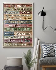 Diabetes In This House We Never Give Up 11x17 Poster lifestyle-poster-1