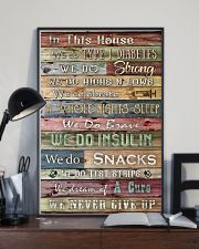 Diabetes In This House We Never Give Up 11x17 Poster lifestyle-poster-2
