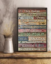 Diabetes In This House We Never Give Up 11x17 Poster lifestyle-poster-3