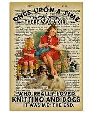 Knitting And Crochet - Love Knitting And Dogs 11x17 Poster front