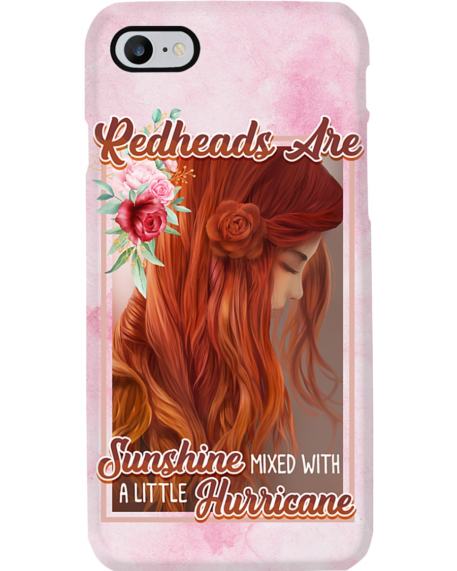 Redhead - Sunshine mixed with a little hurricane Phone Case