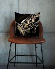 Saxophone Gift Square Pillowcase aos-pillow-square-front-lifestyle-04