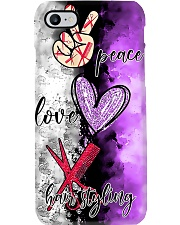 Hairdresser Peace Love Hairstyling Phone Case i-phone-7-case