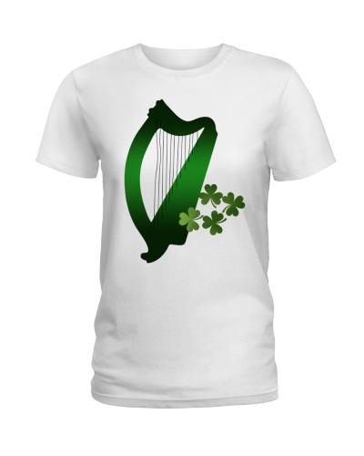 Irish Lucky Green Harp