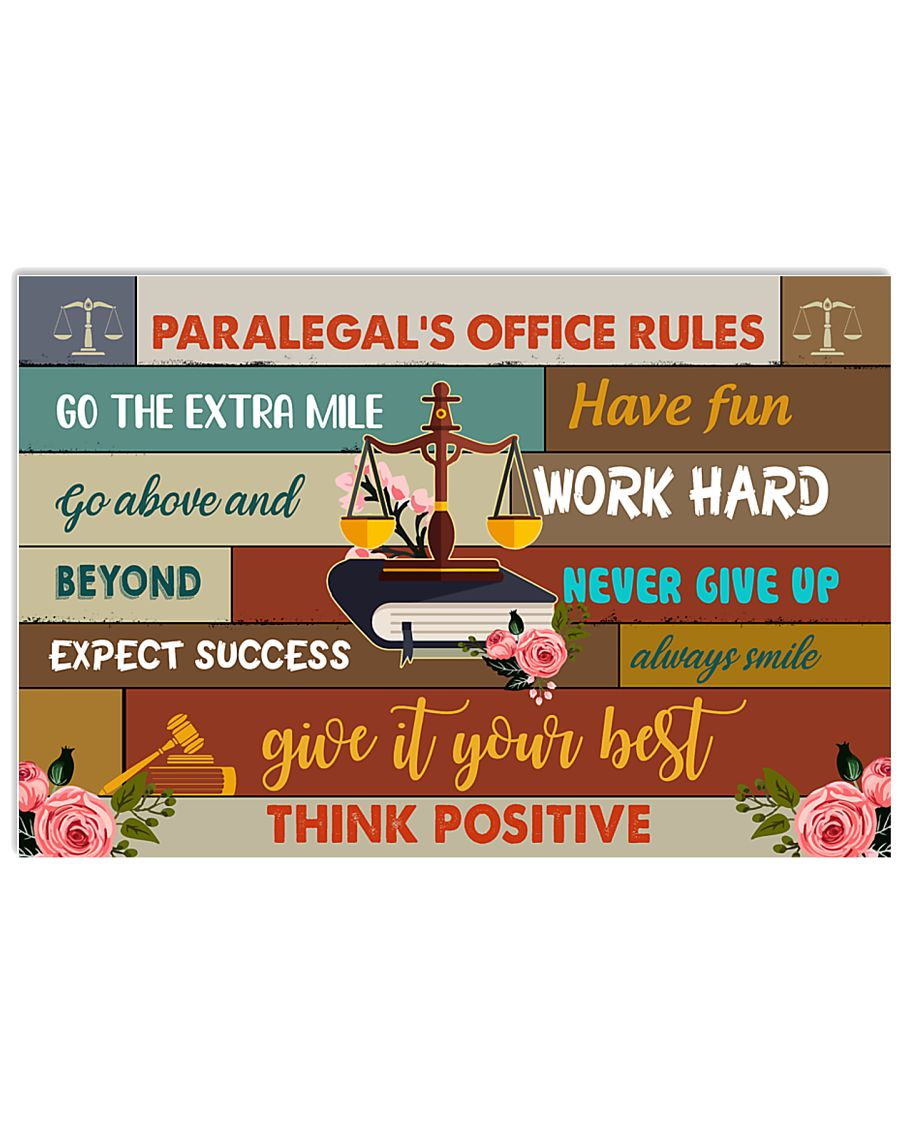 Paralegal Office Rules Art Print  17x11 Poster
