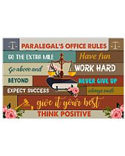Paralegal Office Rules Art Print  17x11 Poster front