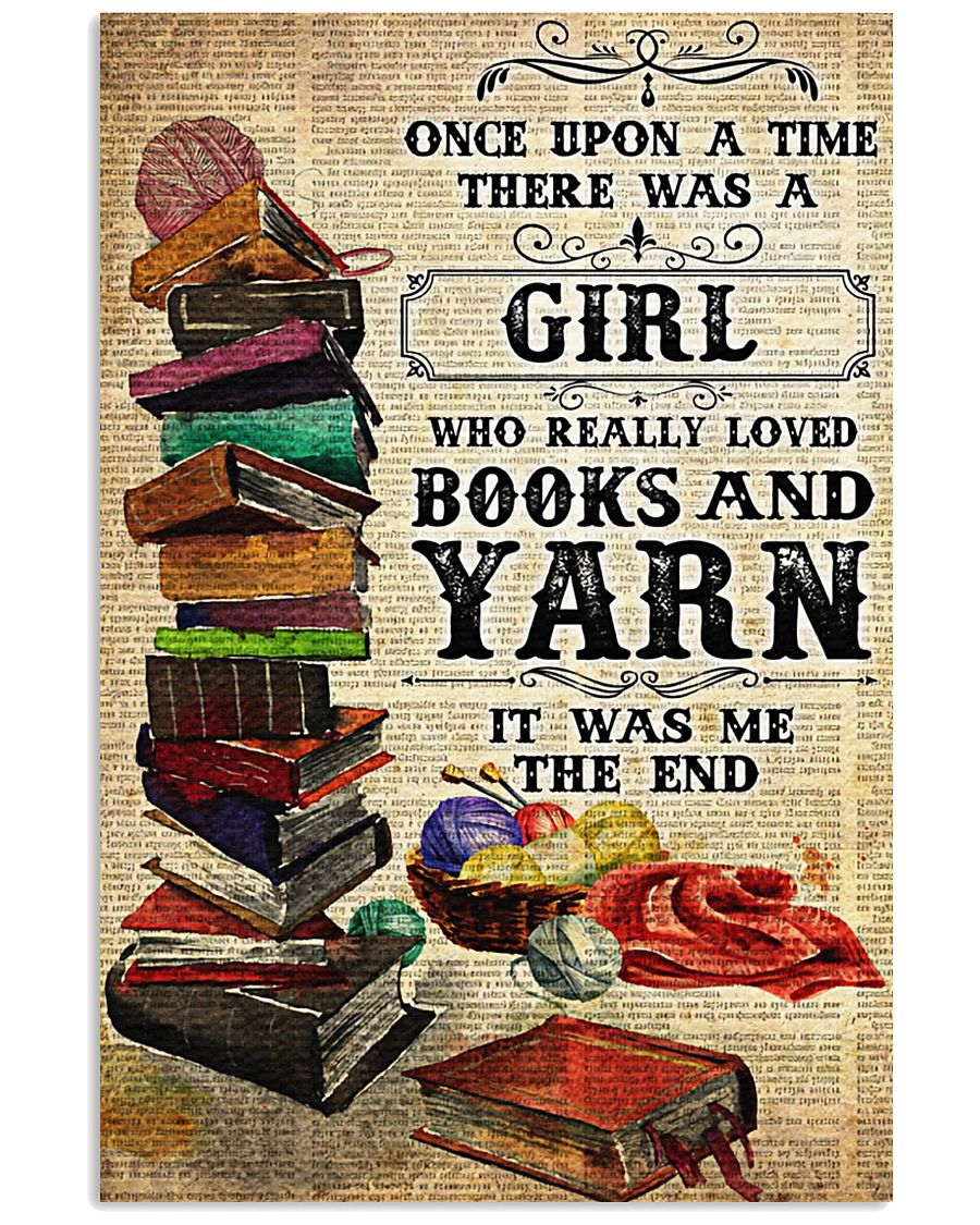 There was a girl who really loved books and yarn 11x17 Poster
