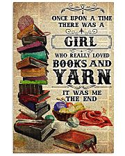 There was a girl who really loved books and yarn 11x17 Poster front