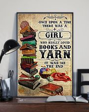 There was a girl who really loved books and yarn 11x17 Poster lifestyle-poster-2