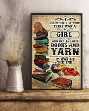 There was a girl who really loved books and yarn 11x17 Poster lifestyle-poster-3