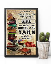 There was a girl who really loved books and yarn 11x17 Poster lifestyle-poster-8