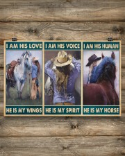 Horse Girl - I Am His Love He Is My Wings 17x11 Poster aos-poster-landscape-17x11-lifestyle-14