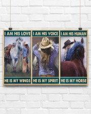 Horse Girl - I Am His Love He Is My Wings 17x11 Poster aos-poster-landscape-17x11-lifestyle-17