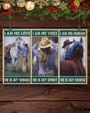 Horse Girl - I Am His Love He Is My Wings 17x11 Poster aos-poster-landscape-17x11-lifestyle-27