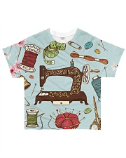 Sewing Floral Nature  All-over T-Shirt front