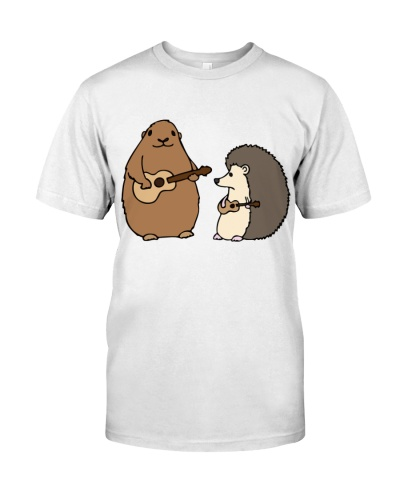 Groundhog and Hedgehog play ukulele
