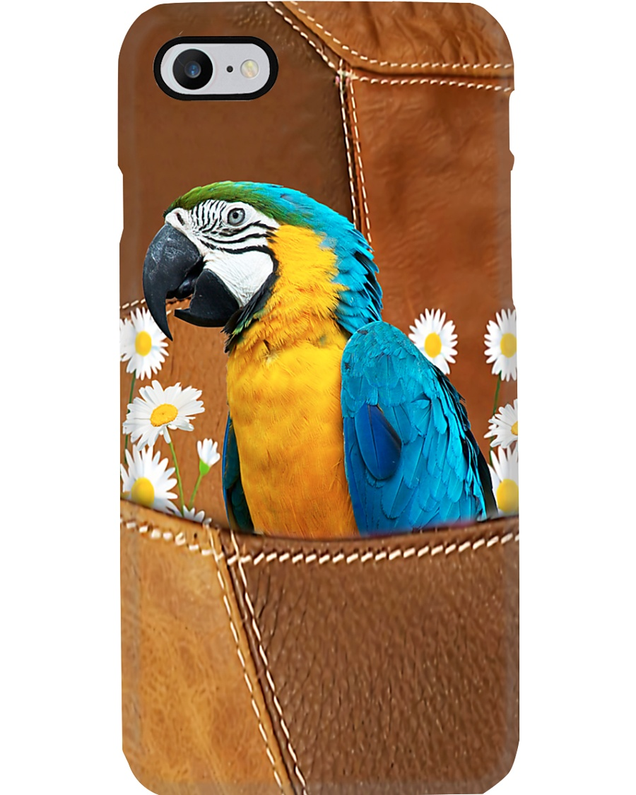 Parrot And Flower Phone Case