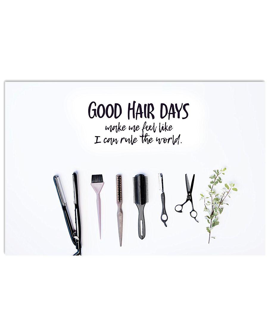 Hairdresser Good Hair Days 17x11 Poster