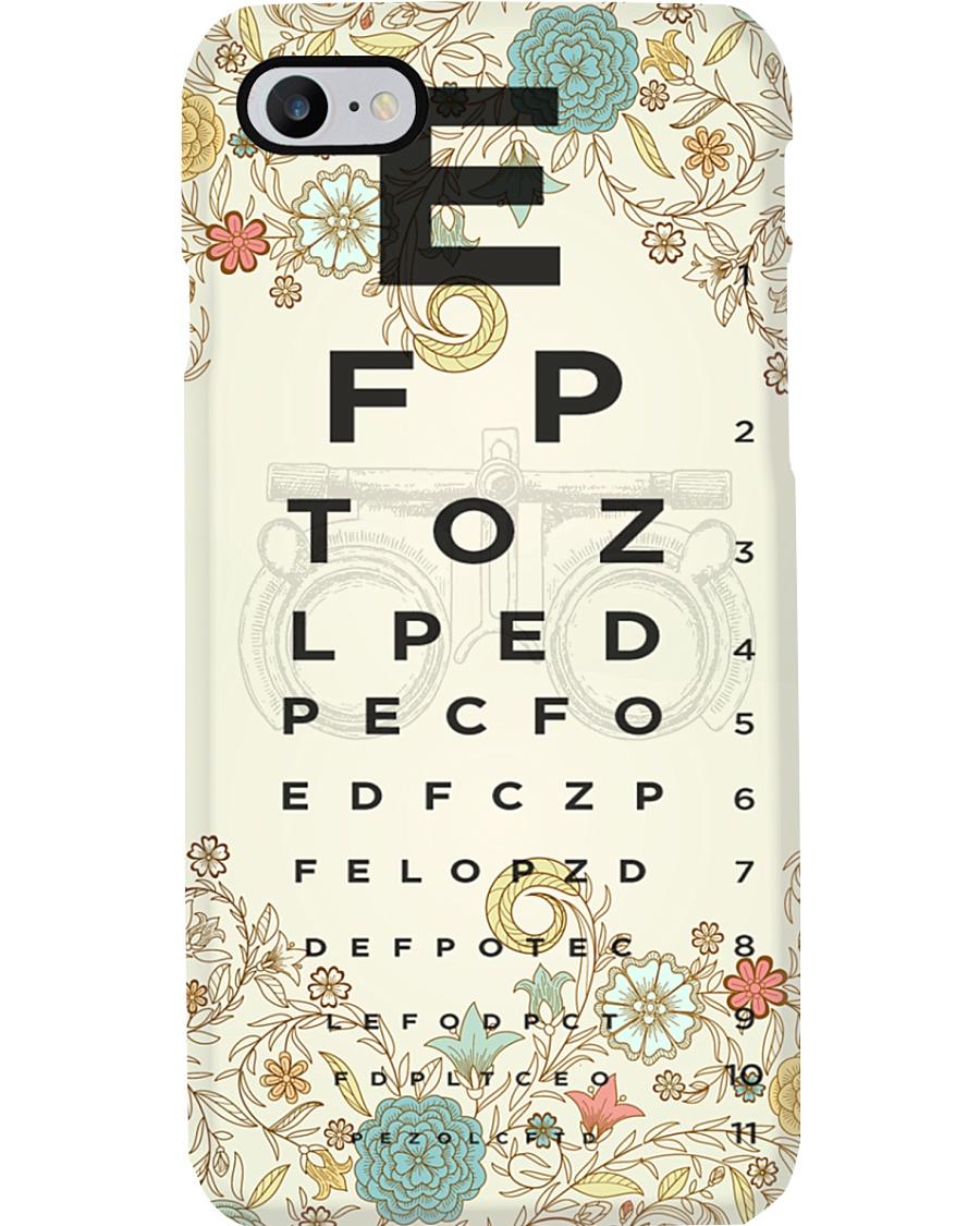 Optometrist Eye Chart Floral Phone Case