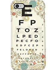 Optometrist Eye Chart Floral Phone Case i-phone-7-case