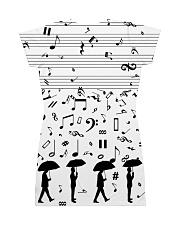Pianist Keys All-over Dress back