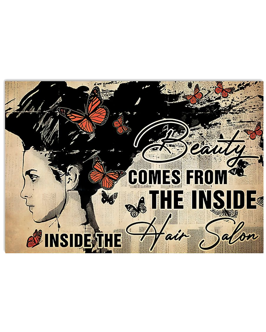 Hairdresser Beauty Comes From Inside 36x24 Poster