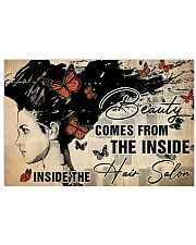 Hairdresser Beauty Comes From Inside 36x24 Poster front