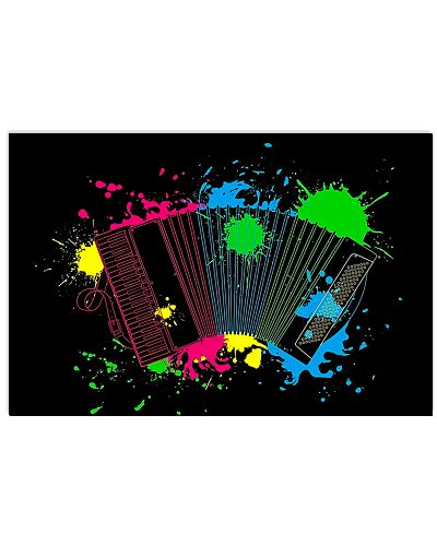 Accordion Water colors poster