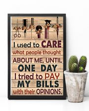Hairdresser I used to care what people thought 11x17 Poster lifestyle-poster-8