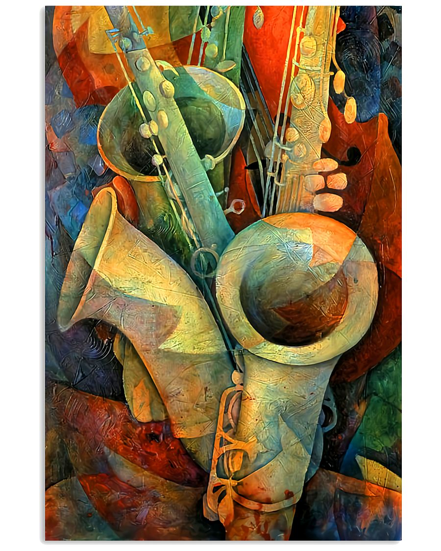 Saxophones and bass 11x17 Poster