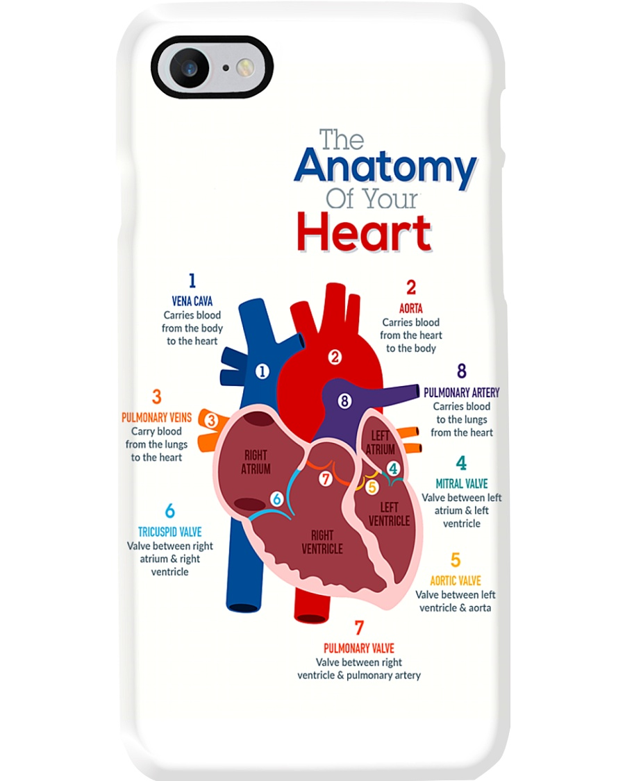 Paramedic The Anatomy Of Your Heart Phone Case