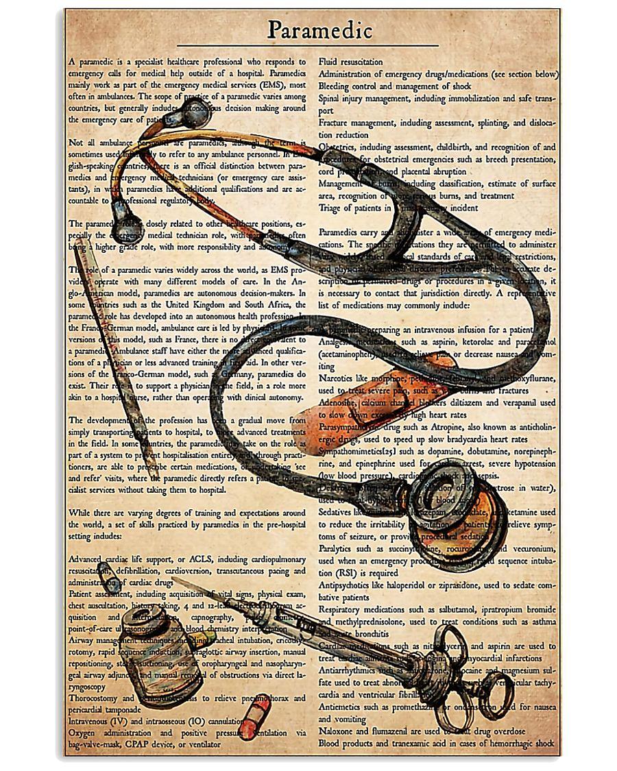 Paramedic Text  11x17 Poster
