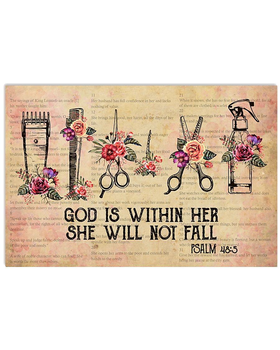 Hairdresser She Will Not Fall 17x11 Poster